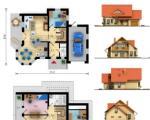 Projekt rodinného domu Alfa 1 - Půdorysy a náhledy