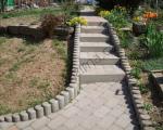 Venkovní úpravy a dlažby - Betonové palisády